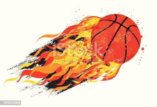 istock flaming basketball 165643569