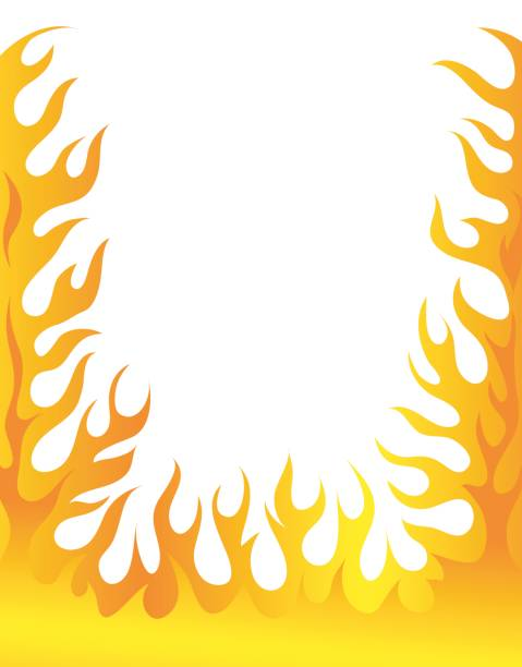 Best Flame Border Illustrations, Royalty-Free Vector ...