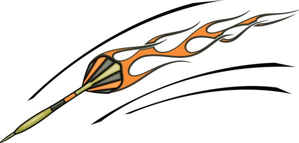 Flaming Dart (Vector)