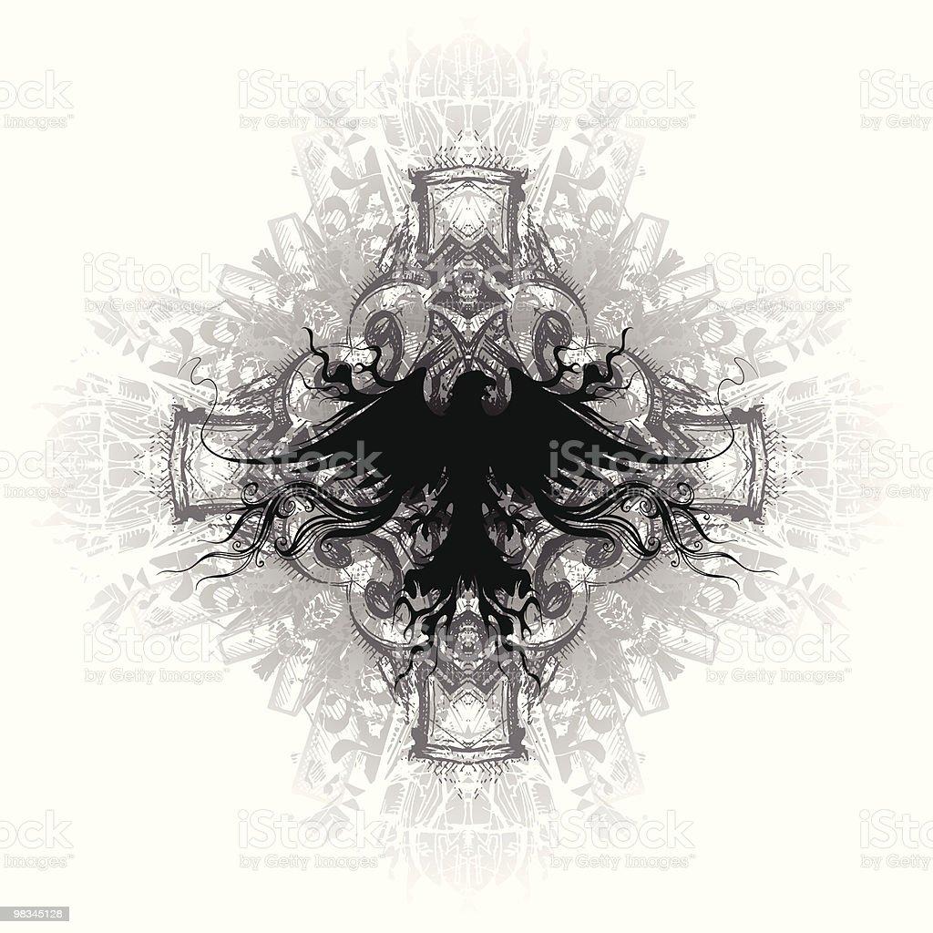 Flaming Eagle Emblem royalty-free flaming eagle emblem stock vector art & more images of animal body part