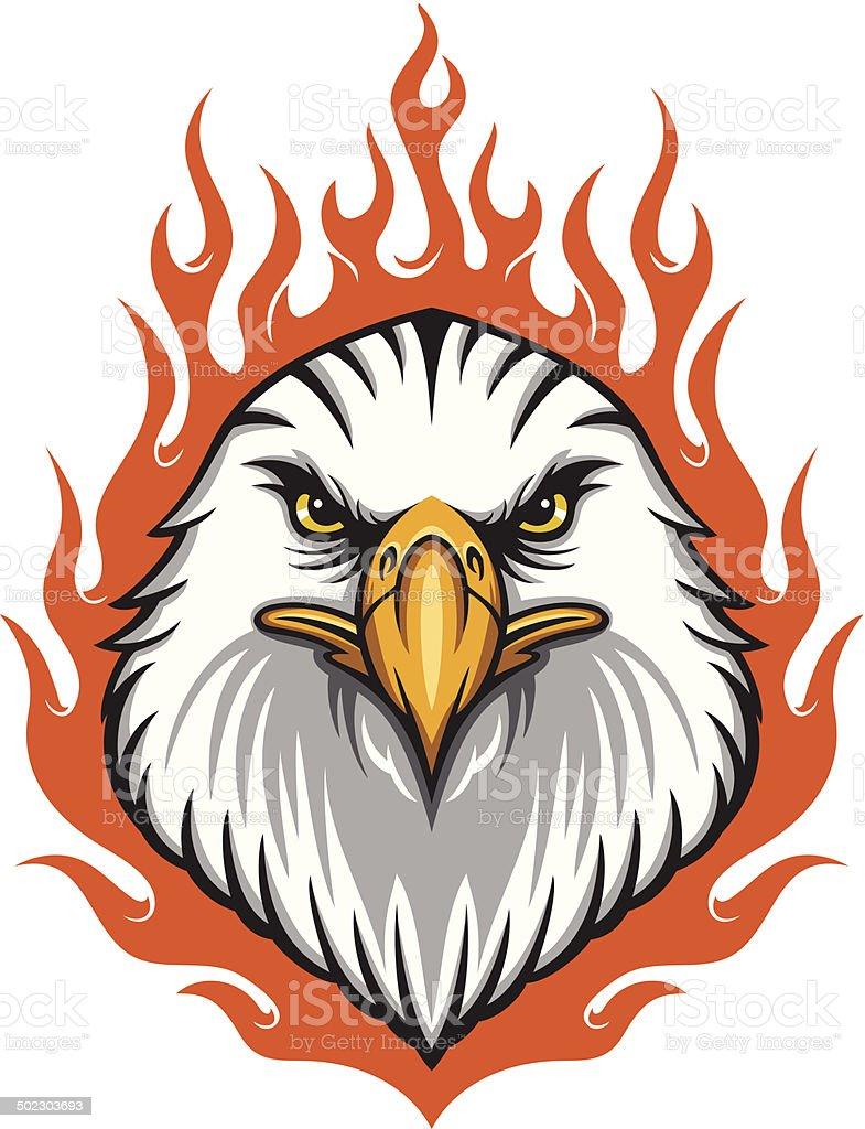 Águila de flaming - ilustración de arte vectorial