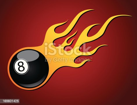 istock Flaming Eight Ball 165601425