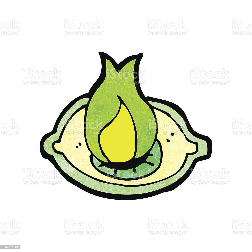 Flaming Eye Symbol Cartoon Stock Vector Art More Images Of Bizarre
