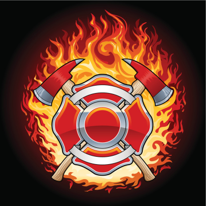 Flaming Firefighter Crest