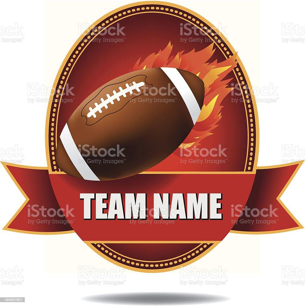 Flaming football insignia royalty-free flaming football insignia stock vector art & more images of activity