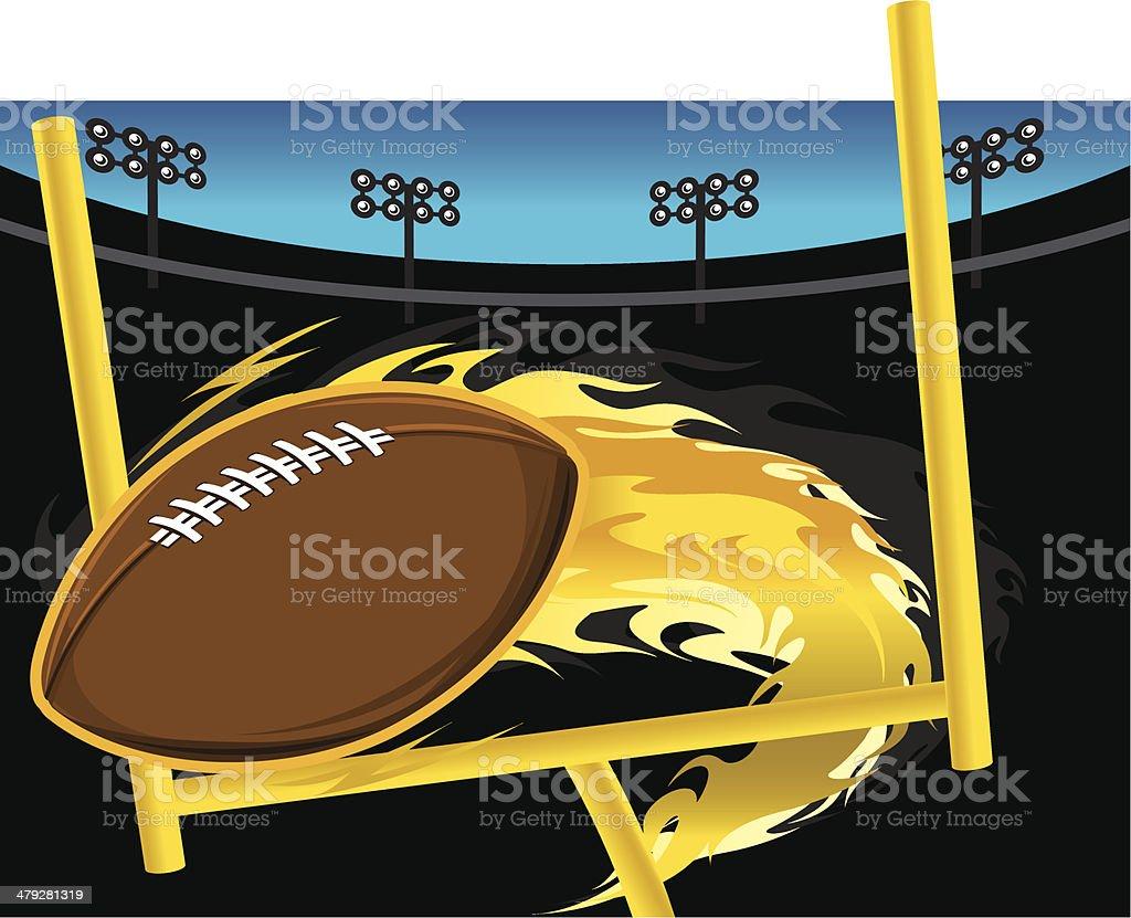Flaming Football royalty-free stock vector art
