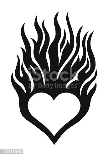 istock Flaming Heart 1003182540