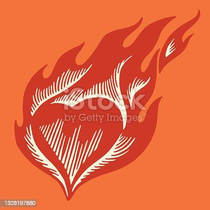 istock Flaming Heart 1328197880
