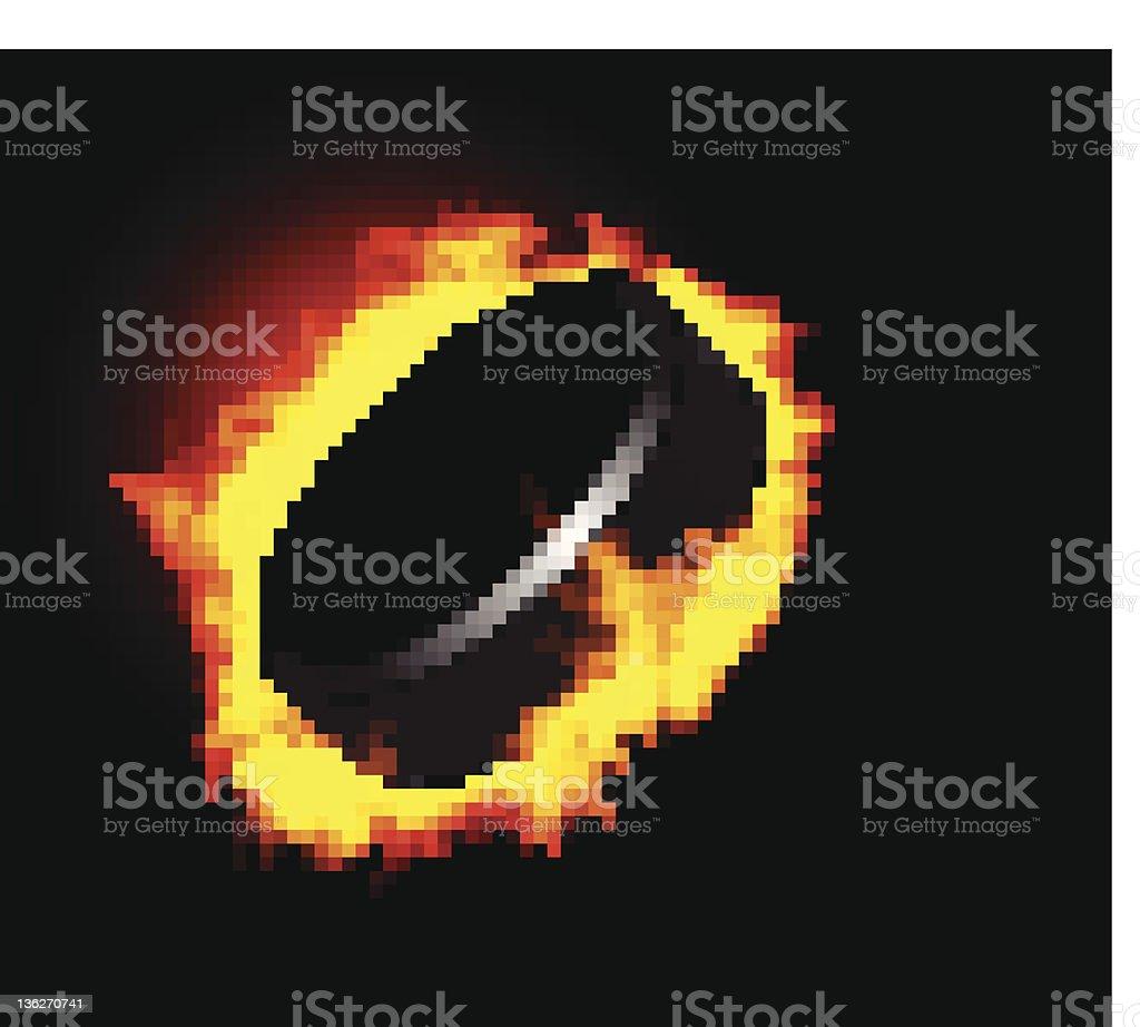 Flaming Hockey Puck royalty-free flaming hockey puck stock vector art & more images of clip art