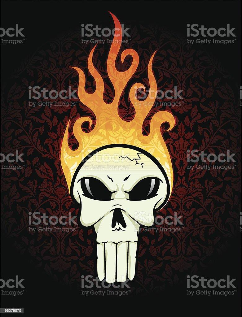 Flaming Hot teschio flaming hot teschio - immagini vettoriali stock e altre immagini di cranio umano royalty-free