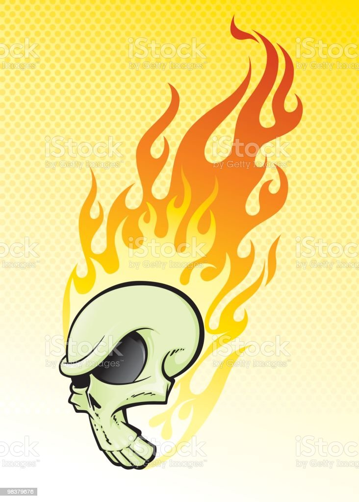 Flaming Hot Skull royalty-free flaming hot skull stock vector art & more images of cartoon