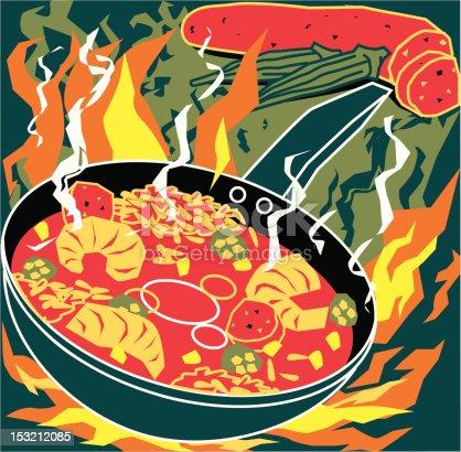 istock Flaming Jambalaya 153212085