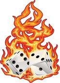 Flaming Melting Dice