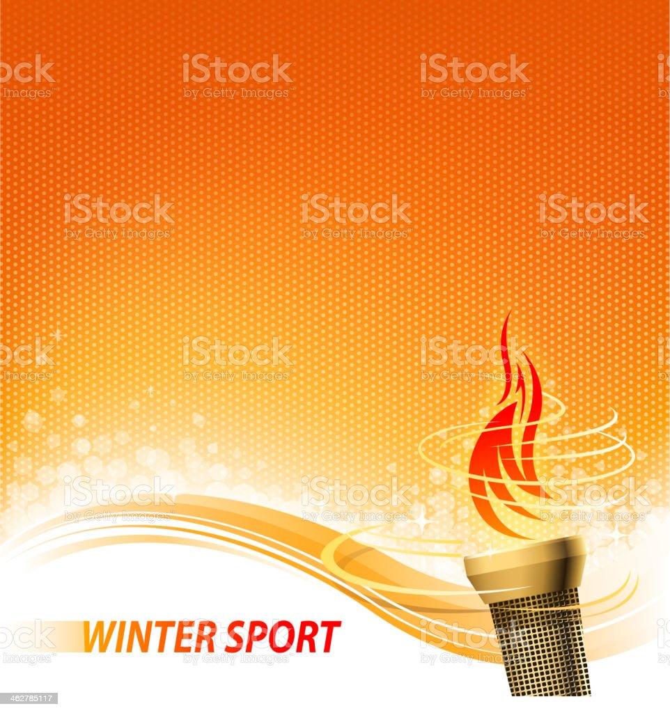 flaming torch backround vector art illustration