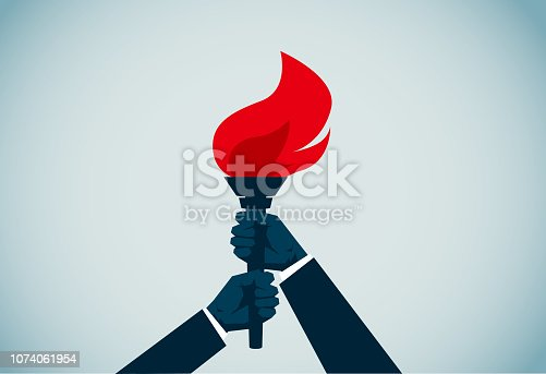 istock Flaming Torch 1074061954
