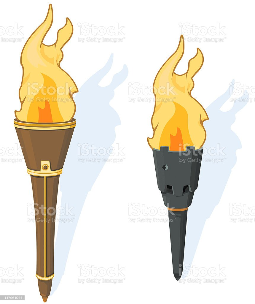 Flaming Torch royalty-free stock vector art