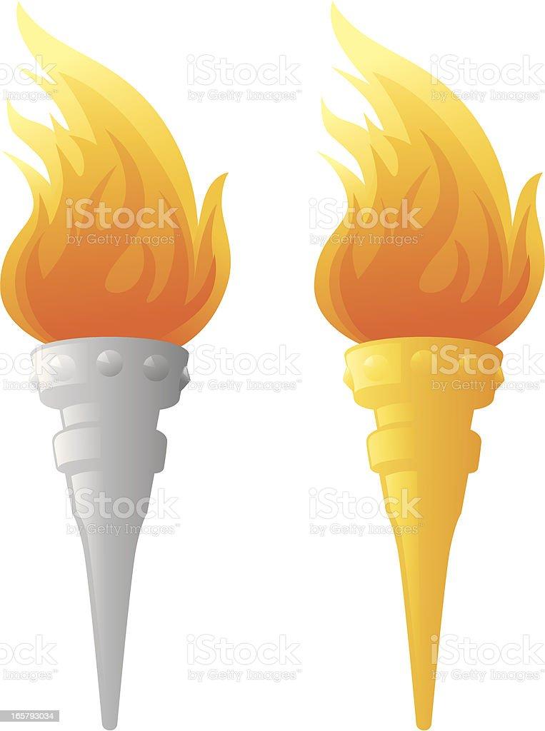 Flaming Torch royalty-free stock vector art