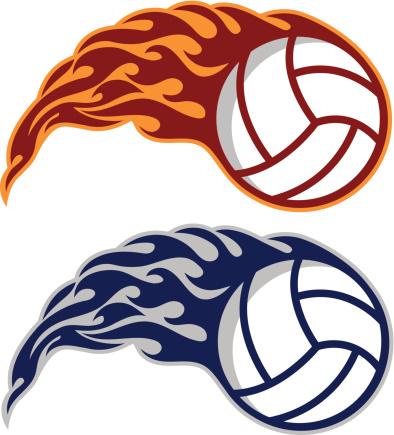 Flaming Volleyballs
