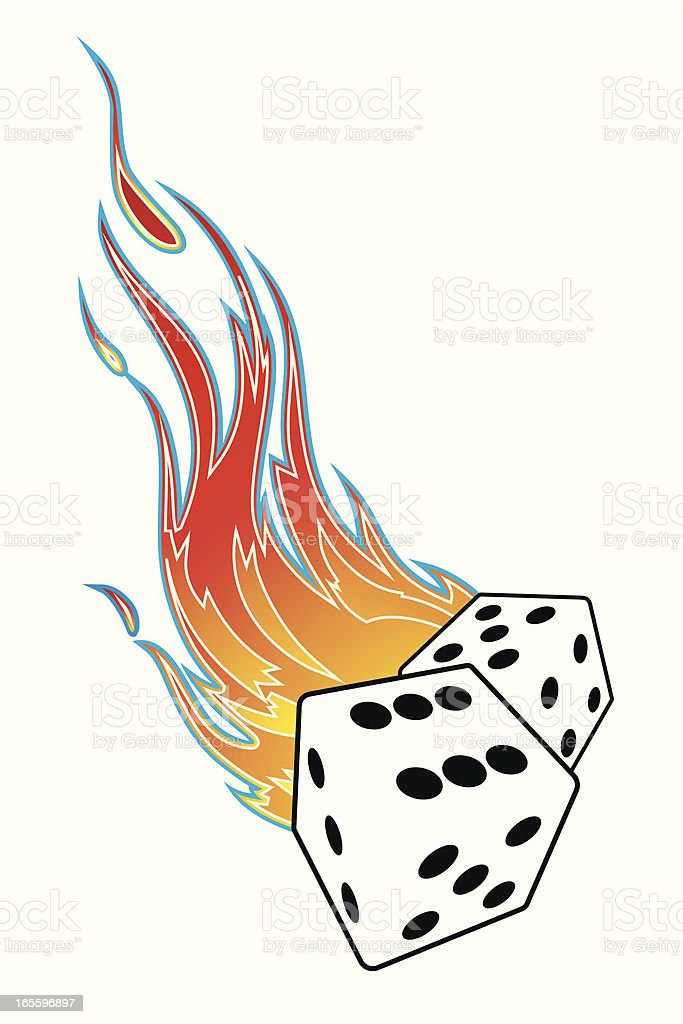 flaming dices royalty-free flaming dices stock vector art & more images of chance