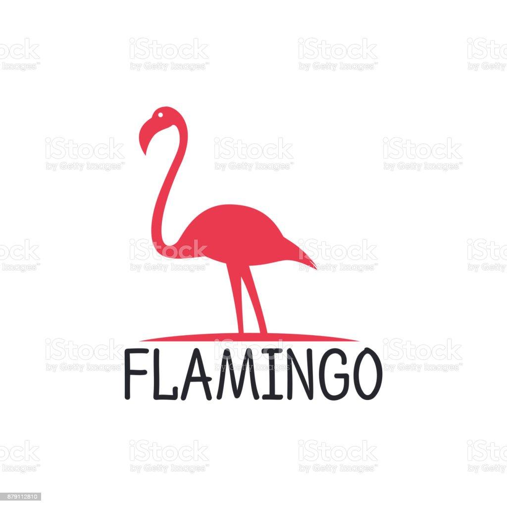 フラミンゴのアイコン デザイン ベクトル テンプレート まぶしいの