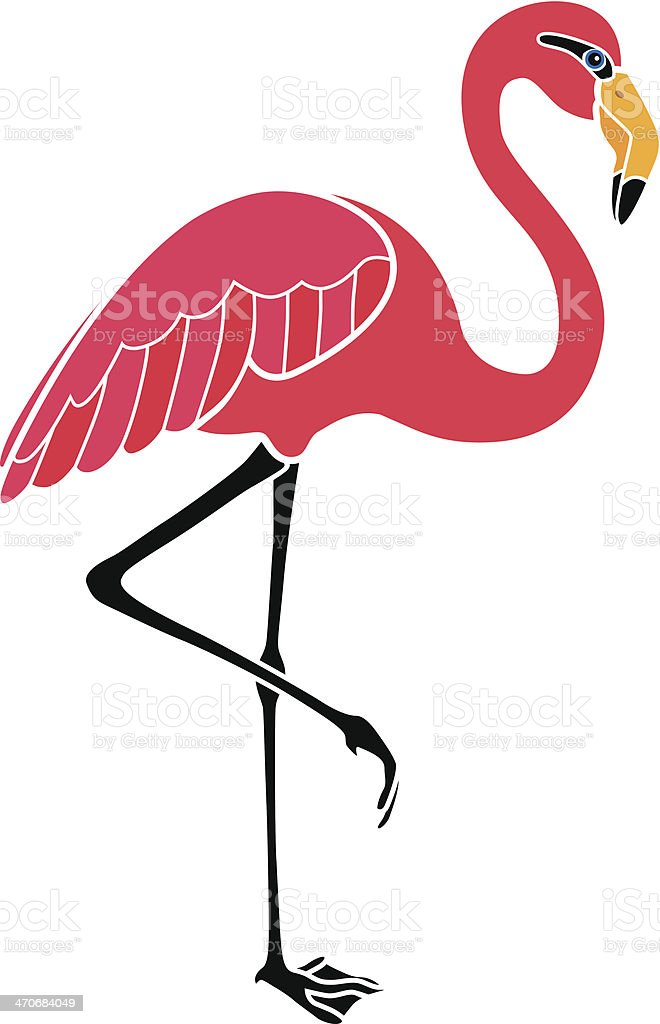 Flamingo In Color Stock Vector Art & More Images of Africa 470684049 ...