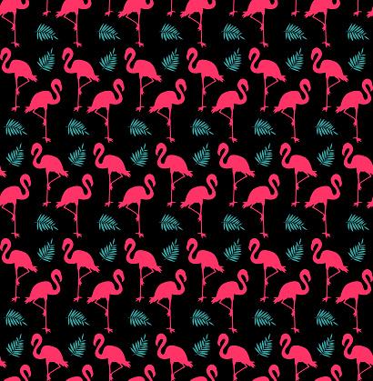 Flamingo Seamless Pattern Fashion Textile