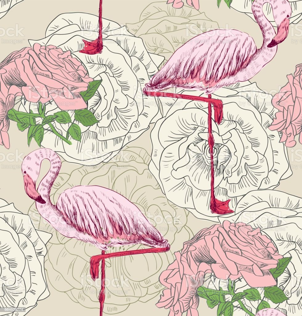 Flamingo. Seamless pattern royalty-free flamingo seamless pattern stock vector art & more images of abstract