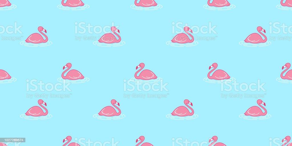 Echarpe Tropical De Flamingo Transparente Motif Vecteur Rose