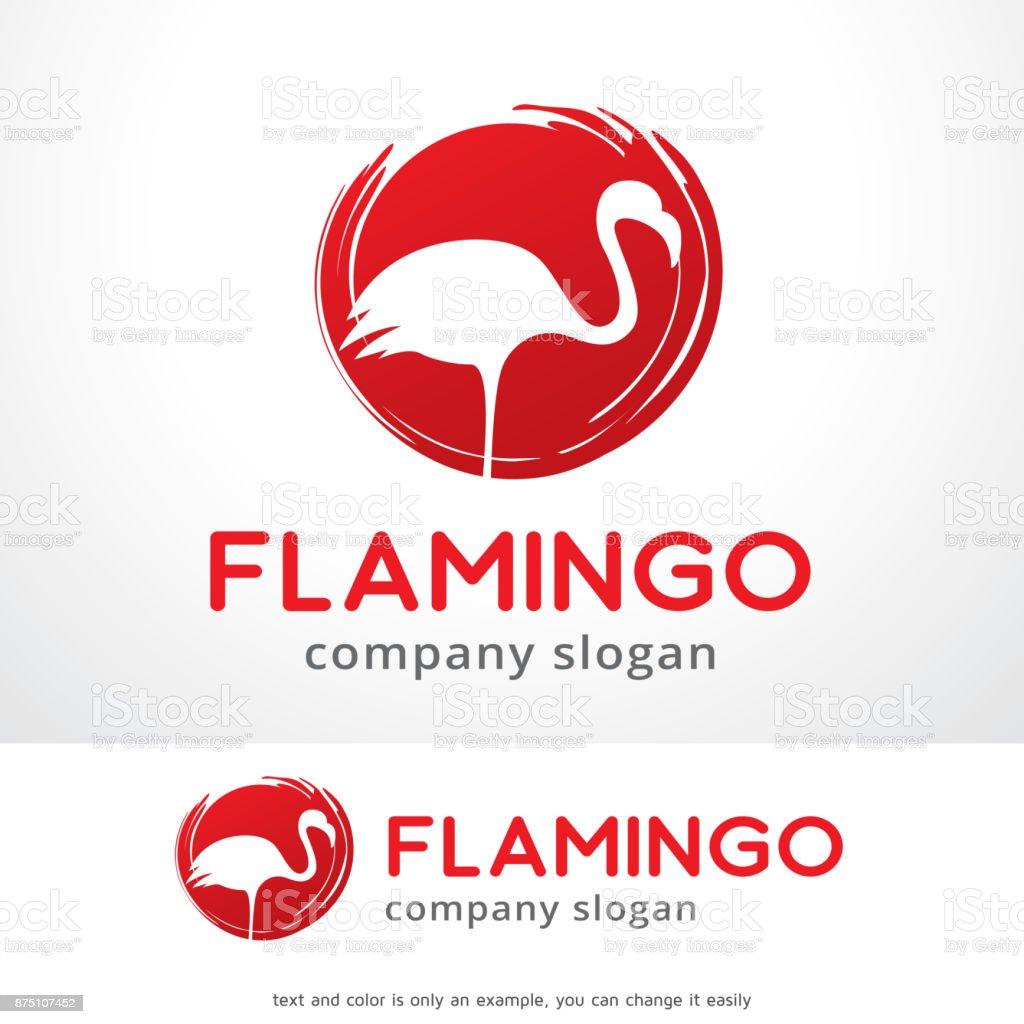 フラミンゴ シンボル テンプレート デザイン ベクトルエンブレムデザイン