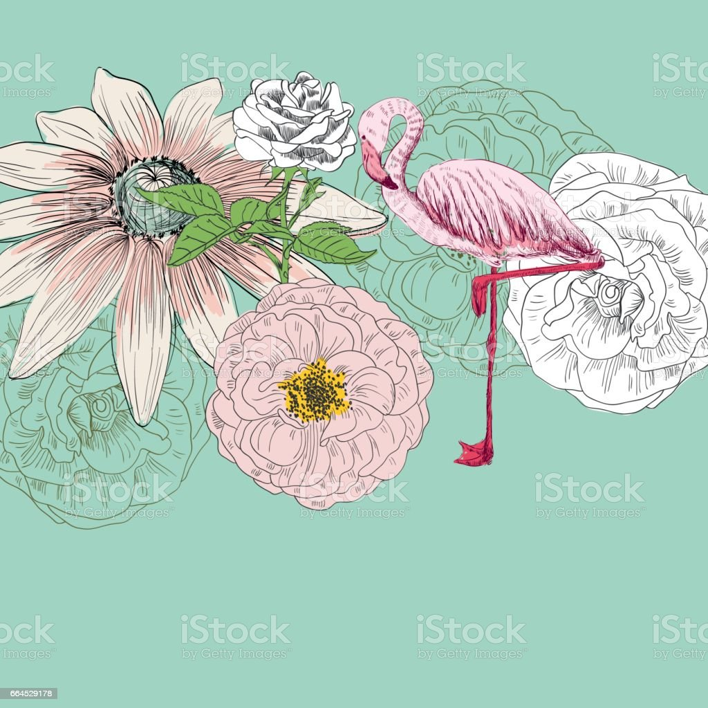 Flamingo. Vector illustration royalty-free flamingo vector illustration stock vector art & more images of abstract