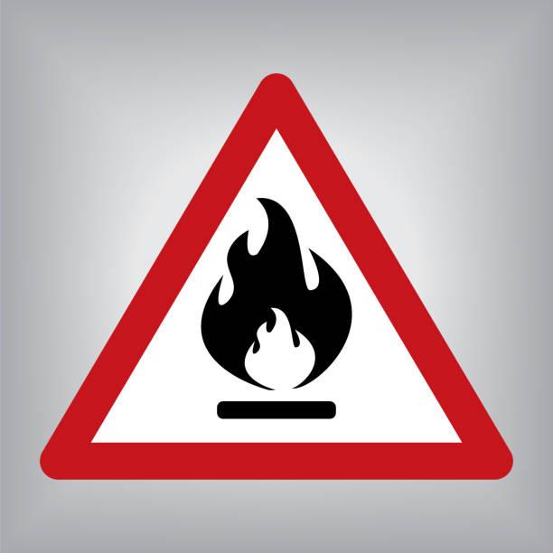 bildbanksillustrationer, clip art samt tecknat material och ikoner med brandfarliga brand varningstecken - fire alarm