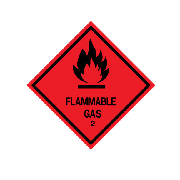 Flammable Gas Symbol Sign ,Vector Illustration, Isolate On White Background Label .EPS10 vector art illustration