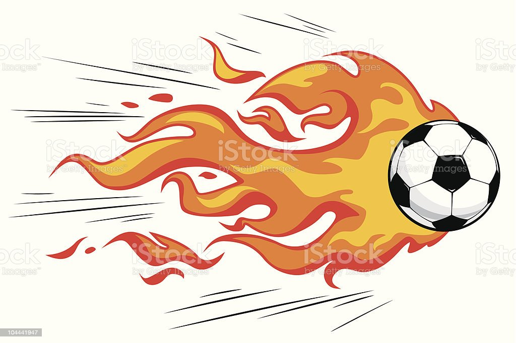 Flamy soccer ball royalty-free flamy soccer ball stock vector art & more images of aspirations