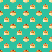 istock Flan Napolitano Mexican Food Pattern 1181281119