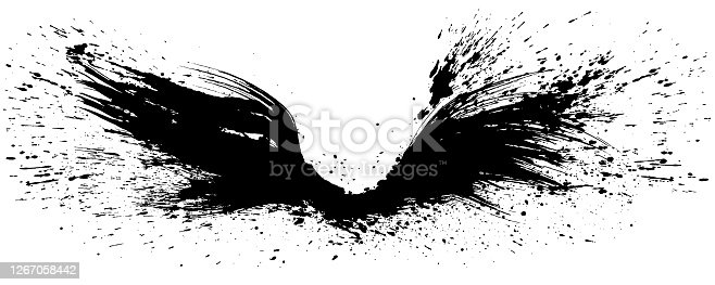 istock flap wings. wings of the future. hand drawn illustration. 1267058442