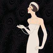 Flapper girl: Retro party invitation design