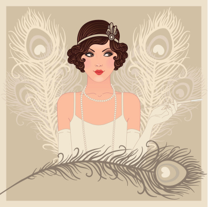 1920's style stock illustrations