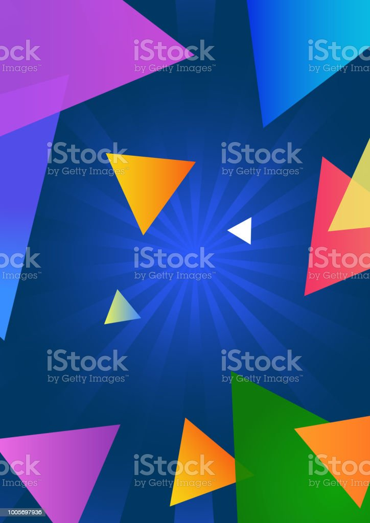 Flash Background With Colorful Triangle For Book Cover Drawing Elements Bright Vector Illustration