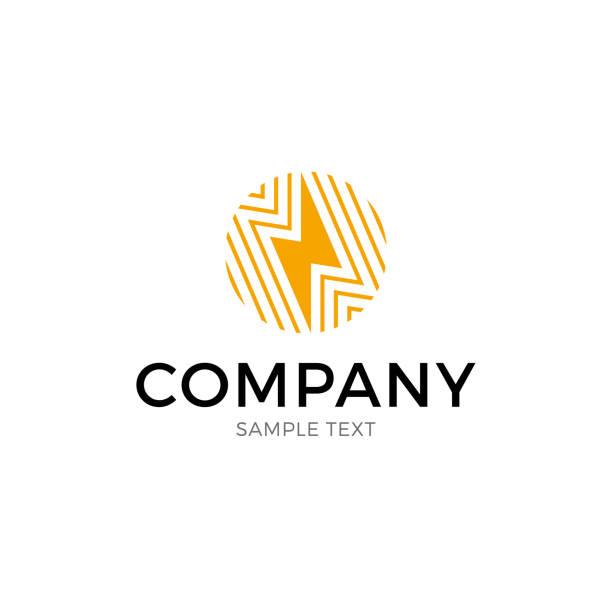flash ball logo template - lightning stock illustrations