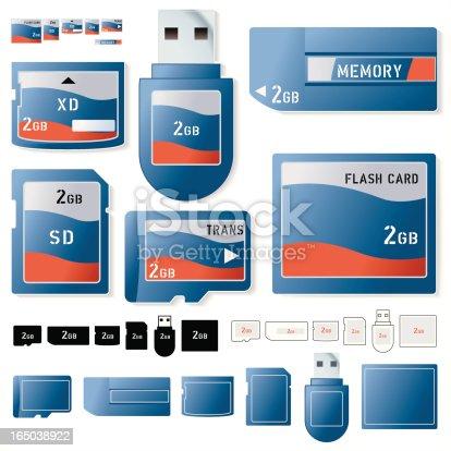 istock Flash card 2 Gig 165038922