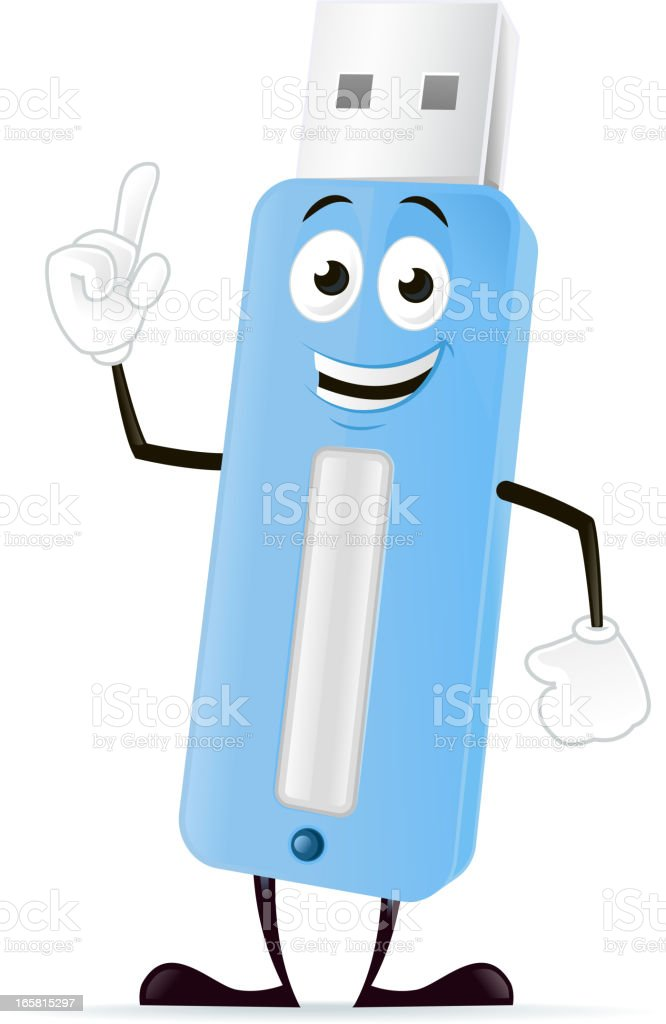 USB Flash Character royalty-free stock vector art