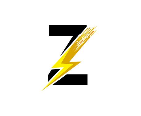 Flash Data Digital Z Letter Logo Design.