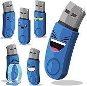 USB Flash Drive Cartoon Set B
