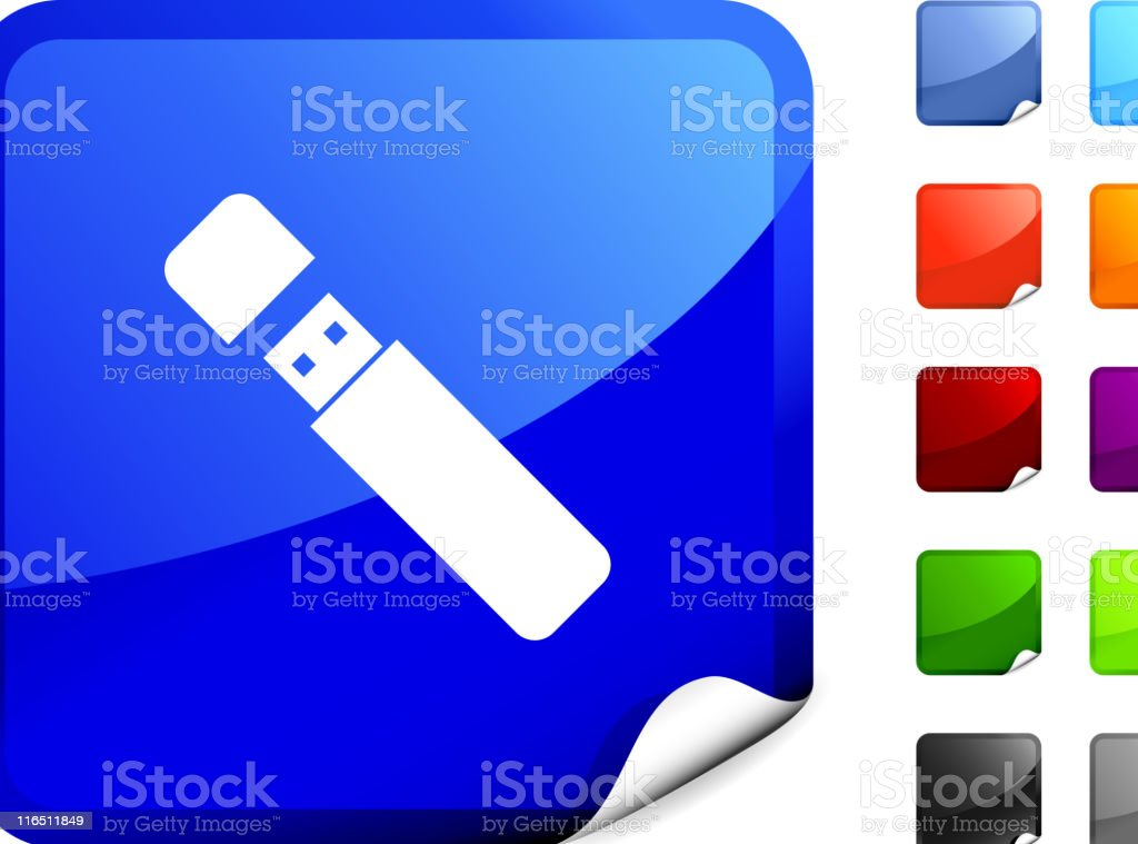flash drive internet royalty free vector art royalty-free stock vector art