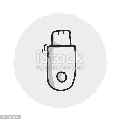 Flash Drive Line Icon