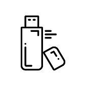 Icon for flash drive, flash, drive, storage, pen drive, USB