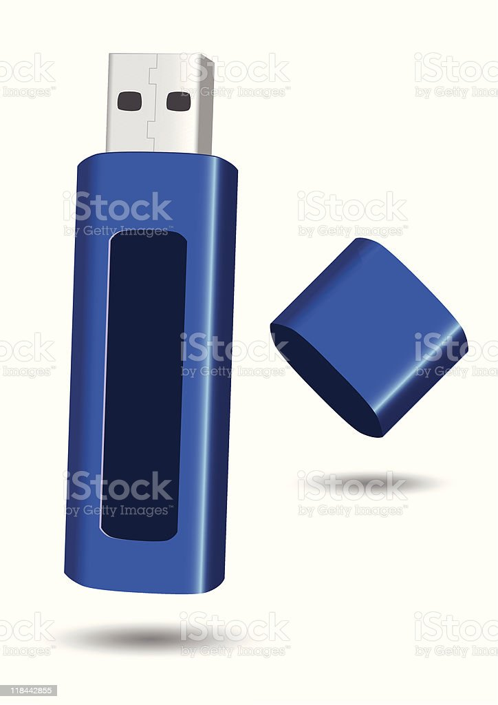 USB flash drive vector illustration royalty-free usb flash drive vector illustration stock vector art & more images of color image