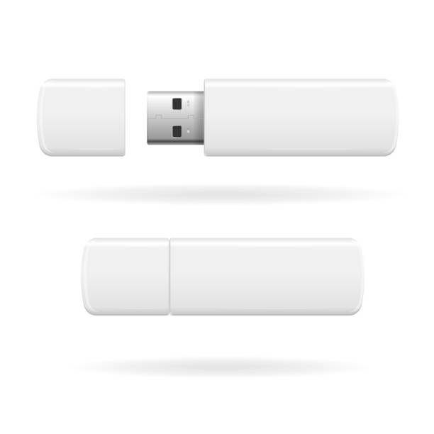 USB Flash Drive. Vector  USB Flash Drive White and Empty. Vector illustration usb stick stock illustrations