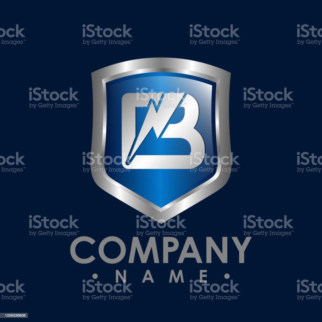 flash lightning logo template badge with lightning symbol design