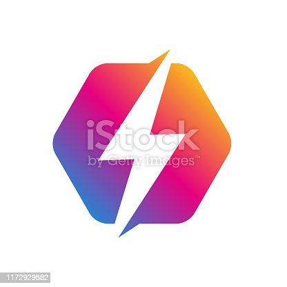 Flash Logo abstract design vector template. Lighting bolt icon. Logo Thunder electricity Power Fast Speed Logotype concept. Vector. EPS 10.